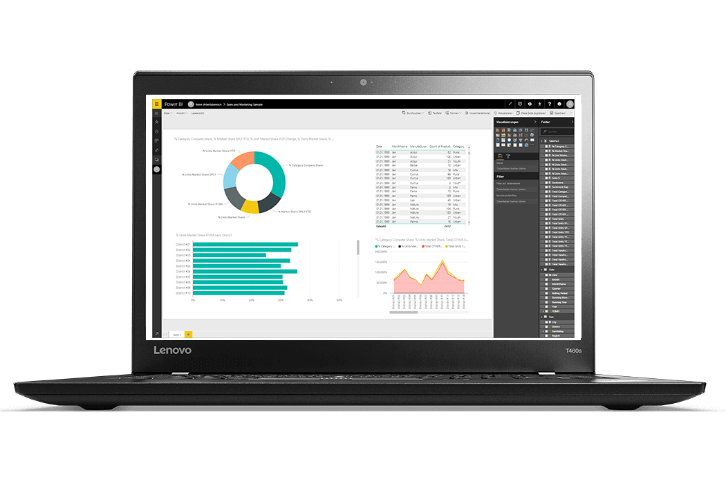 screenshot benutzeroberflaeche power bi