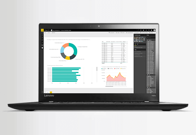 Screenshot Power BI Desktop Anwendung